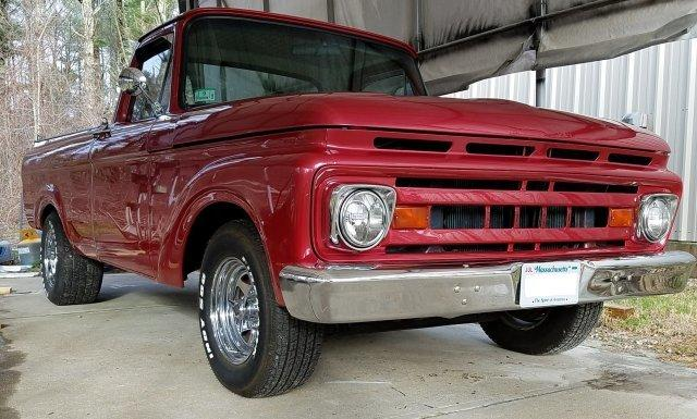 1961 Ford F100 Unibody for sale in Hanover, MA