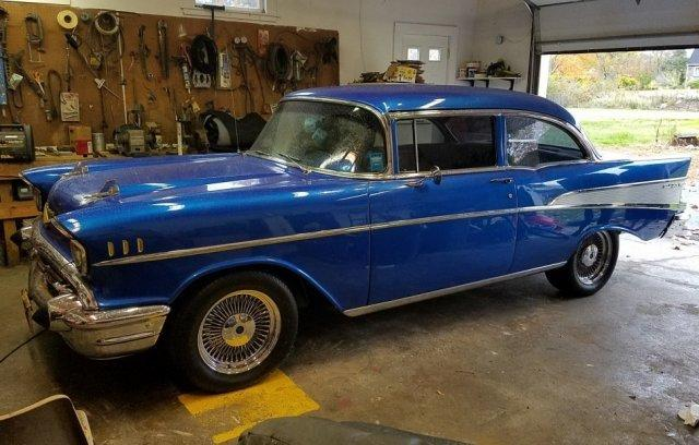 1957 Chevrolet BEL AIR 2 Door Sedan Custom for sale in Hanover, MA