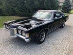 1970 PONTIAC GRAND PRIX 455 AUTO BLACK / BLACK