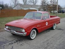 1960 FORD RANCHERO V8, AUTO 289, AUTO, RED, DUAL EXHAUST