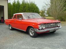 1961 CHEVROLET BISCAYNE 348 DUAL QUADS