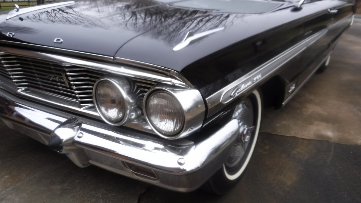 1964 FORD GALAXIE 500 P CODE 4 SPEED P CODE 4 SPEED BLACK / BLACK - Photo