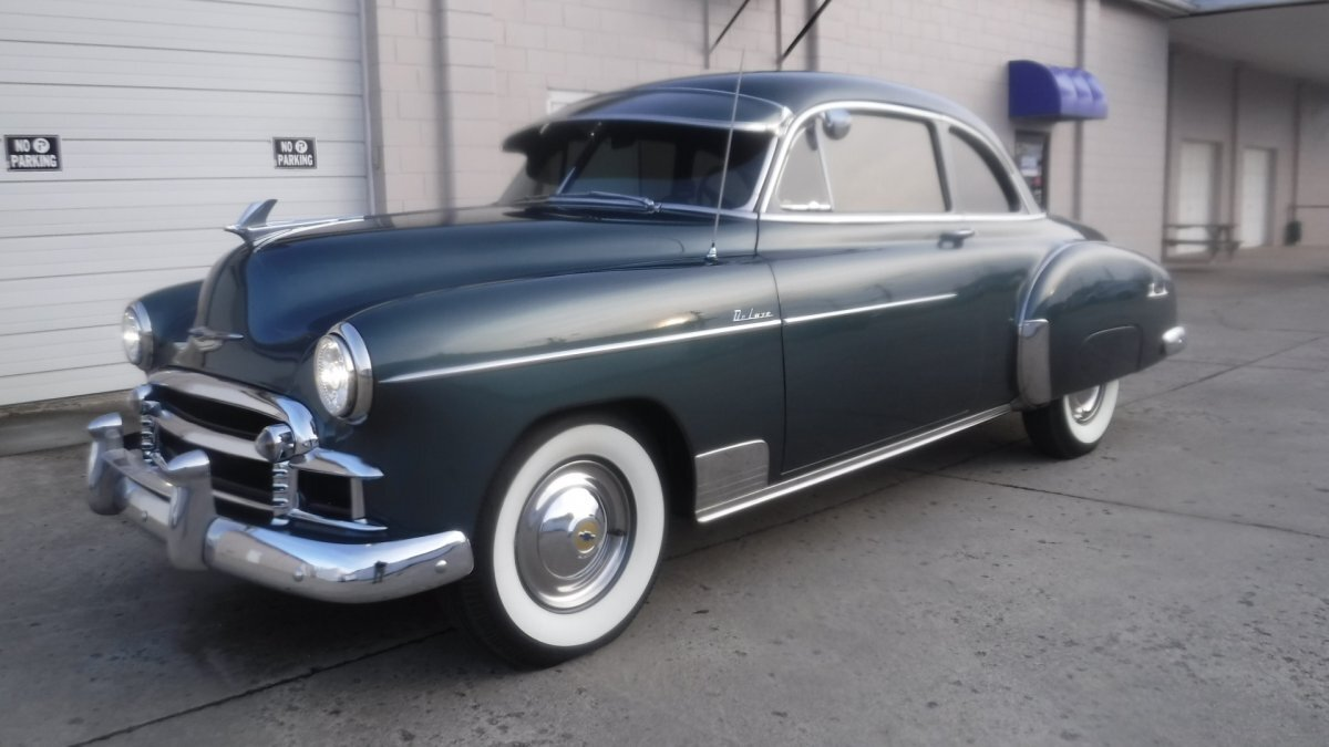 1950 CHEVROLET DELUXE COUPE 6 CYL, FENTON OPTIONS, 3 SPEED in Milford, OH
