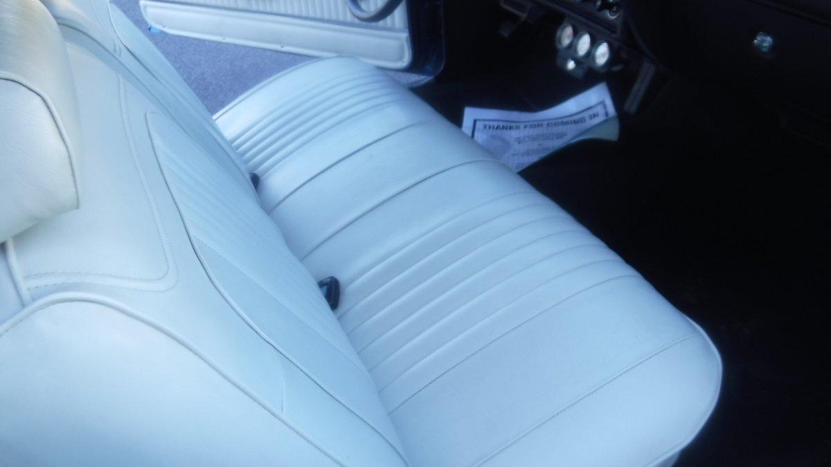 1972 CHEVROLET CHEVELLE SPORT COUPE 430HP, AUTO MULSANNE BLUE 430 HP CRATE MOTOR, AUTO, 342 REAR - Photo