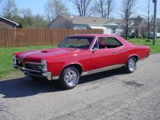 1967 PONTIAC GTO TRI POWER COUPE RED, TRI POWER, AUTO