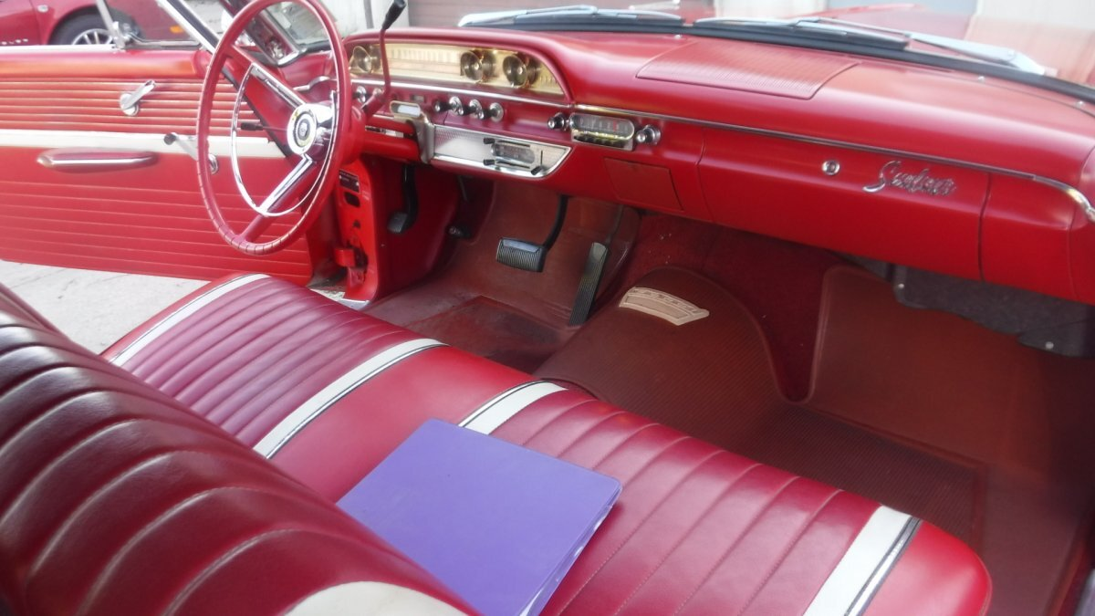 1962 FORD SUNLINER CONVERTIBLE GALAXIE 500 352. AUTO - Photo
