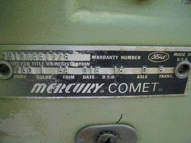 1967 MERCURY CALIENTE COMET CONVERTIBLE CALIENTE CONVERTIBLE 4 SPEED - Photo