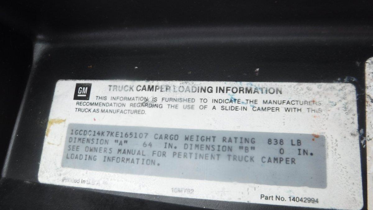 1989 CHEVROLET SILVERADO PICK UP LONG BED 2WD,5.7, AUTO - Photo