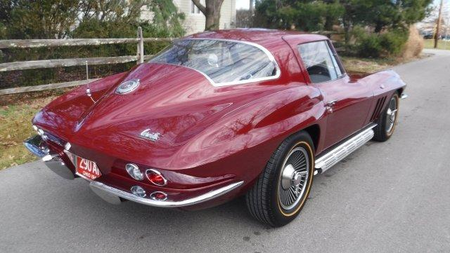 1966 CHEVROLET CORVETTE COUPE, 4 SPEED, SIDE PIPE, KNOCK OFFS. - Photo