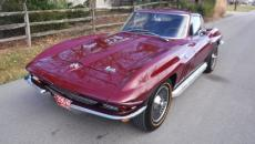 1966 CHEVROLET CORVETTE COUPE, 4 SPEED, SIDE PIPE, KNOCK OFFS.