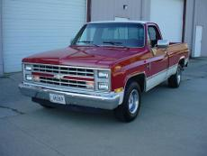 1986 CHEVROLET SILVERADO PICK UP V8, AUTO, LONG BED, LOADED