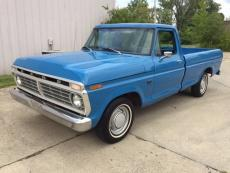 1973 FORD F-100 CUSTOM LONG BED 360 LONG BED 360, 3 SPEED,