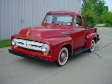 1953 FORD F1 PICK UP 6 CYLINDER 3 SPEED FACTORY RED