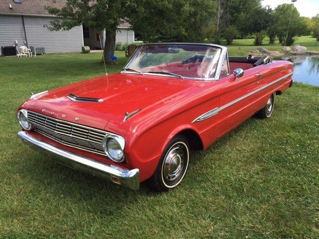 1963 FORD FALCON CONVERTIBLE 6 CYL, CONVERTIBLE RED / RED in Milford, OH