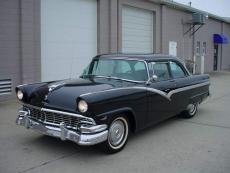 1956 FORD FAIRLANE CLUB SEDAN BLACK, 292, AUTO, POWER STEERING