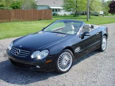2003 MERCEDES-BENZ SL 500 CONVERTIBLE, LEATHER, BLACK / GREY