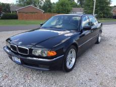 1999 BMW 750IL 12 CYLINDER BLACK / BLACK LEATHER