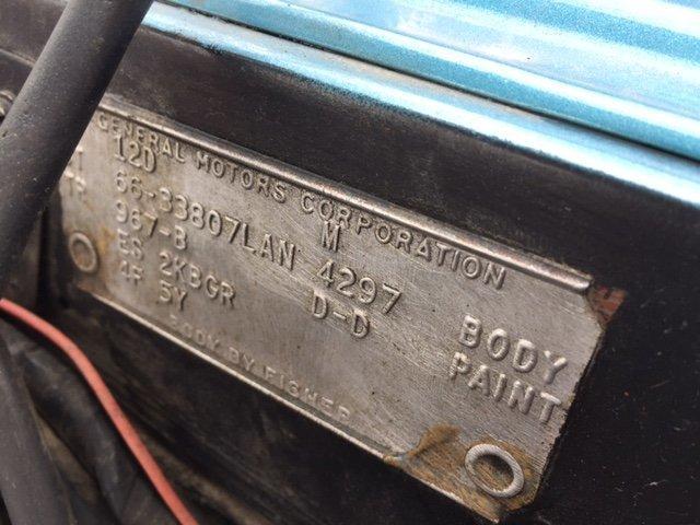 1966 OLDSMOBILE CUTLASS COUPE 330-4, MANUAL TRANS 2 DOOR POST - Photo