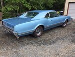 1966 OLDSMOBILE CUTLASS COUPE 330-4, MANUAL TRANS 2 DOOR POST