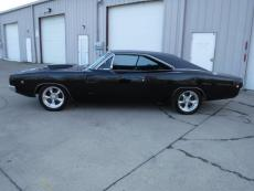 1968 DODGE CHARGER RT BUCKET SEAT, TRIPLE BLACK