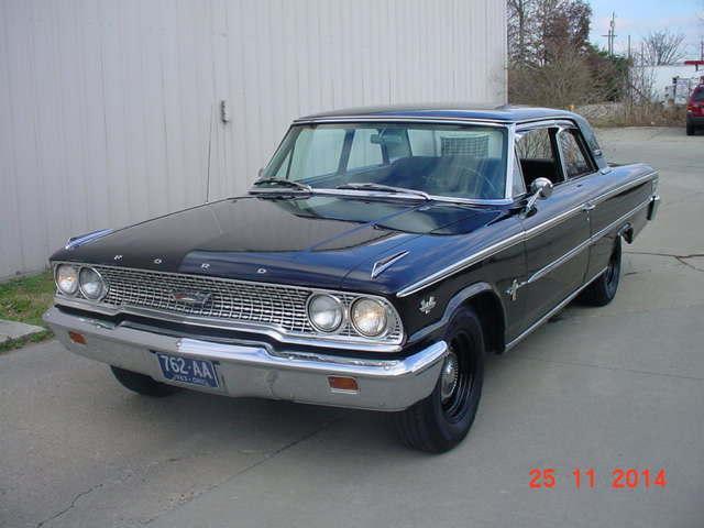 1963 FORD GALAXIE 500 BOX TOP BOX TOP 390, MANUAL TRANS BLACK / BLACK in Milford, OH