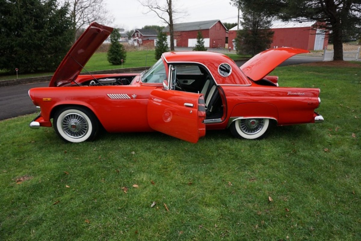 1955 FORD thunderbird REPLICA EXTREMELY AUTHENTIC IN&OUT NEW JASPER V8 ENG C6 AUTO TRANS A/C & MUCH MORE