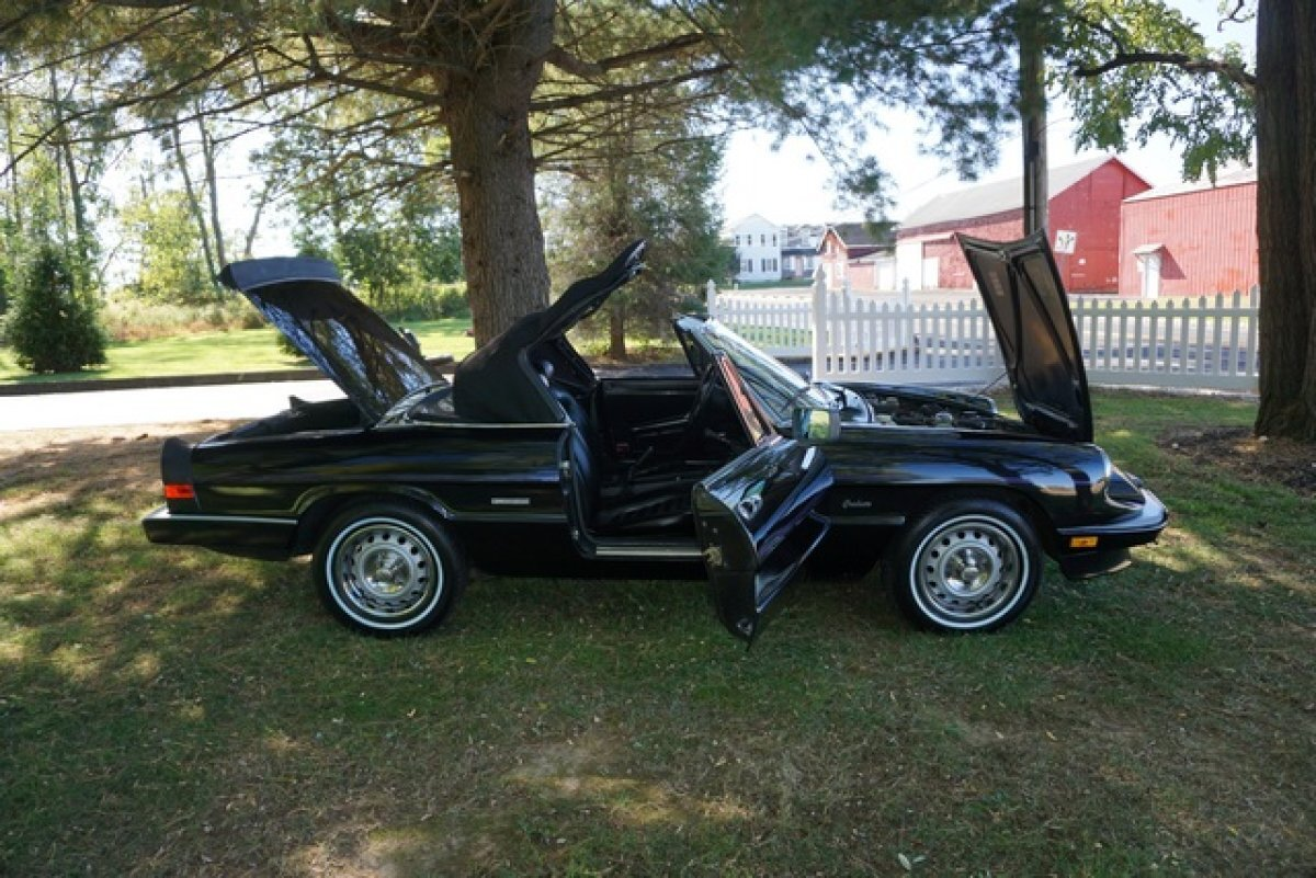 1986 Alfa Romeo SPIDER GRADUATE RARE TRIPLE BLACK A/C&MANY NEW UPGRADES 5 NEW TIRES LOW MILES BEAUTIFUL THRU OUT