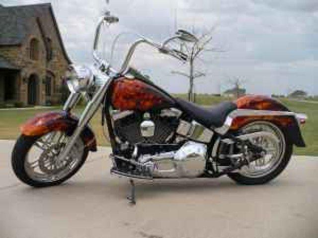2004 HARLEY-DAVIDSON FLSTF SOFTTAIL for sale in Terrell, TX